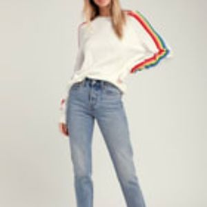 Forever 21 Rainbow Sleeve Sweater